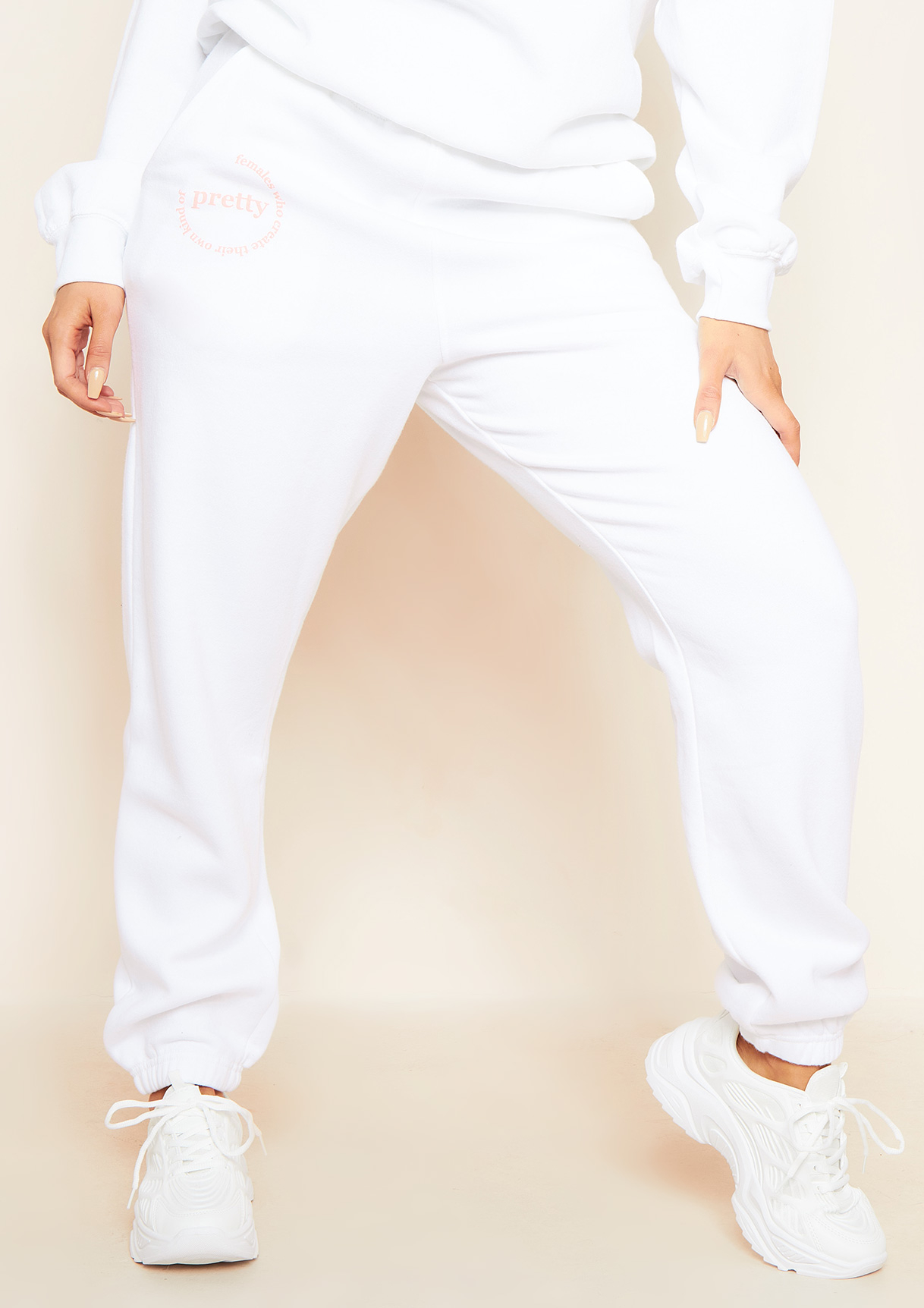 T-Shirts Madison White Slogan Casual Joggers