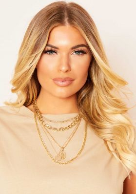 Cara Gold Multi Layered Chain Necklace
