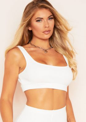 Kara Cream Ribbed Crop Top