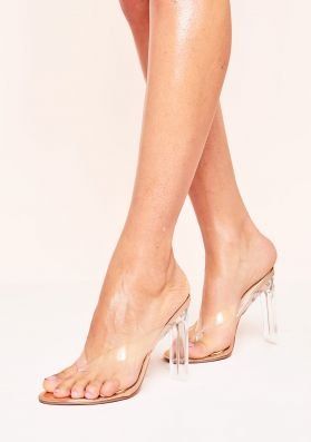 Simmi Rose Gold Clear Heeled Sandals