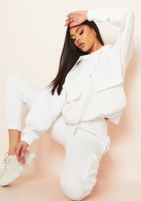 Bria Cream Front Pocket Loungewear Set