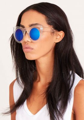 Zen Blue Tinted Clear Sunglasses