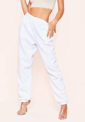 Davina Cream Basic Cuffed Joggers