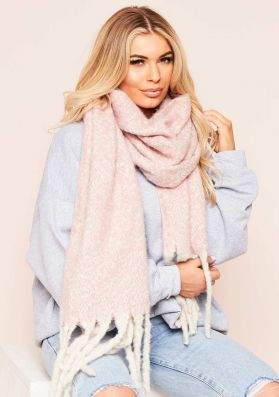 Aimee Pink Oversized Scarf