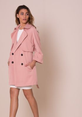 Alessa Dusty Pink Trench Coat