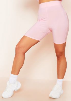 Ruth Pale Pink Slinky Cycle Shorts