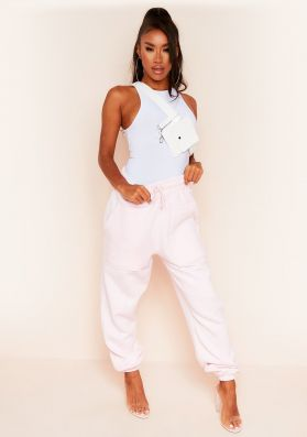 Romy Baby Pink Pocket Front Oversized Joggers