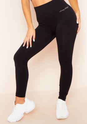 Anni Black Missy Sport Seamless High Waisted Gym Leggings