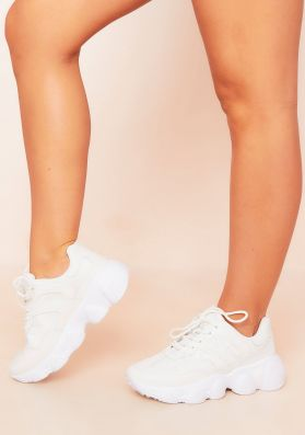 Mimi White Chunky Sole Trainers