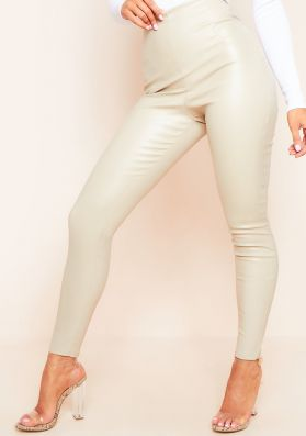 Tallis Stone High Waisted Vegan Leather Smooth Finish Leggings