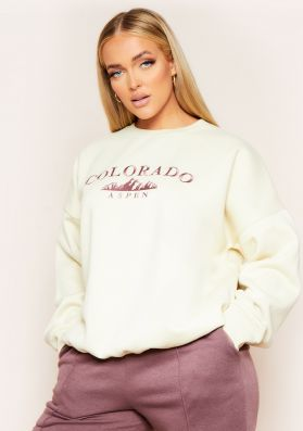 Jeni Stone Colorado Embroidered Oversized Sweatshirt