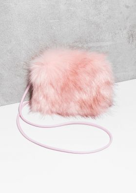 Fay Pink Faux Fur Fluffy Bag