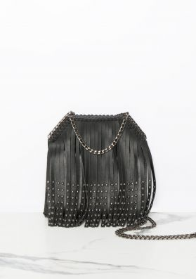 Ally Black Bucket Tassel Bag