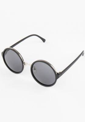 Holly Black Tinted Round Sunglasses