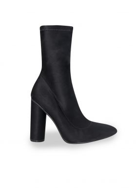 Celina Black Pointed Sock Boots