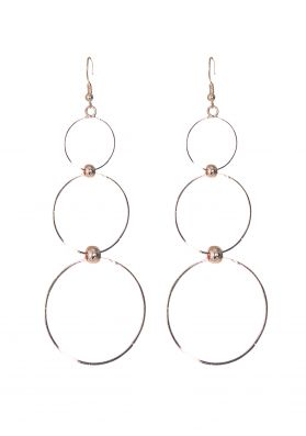 Blanche Rose Gold Layered Ring Earrings