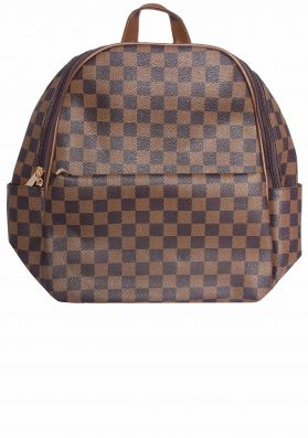 Jo Brown Check Backpack