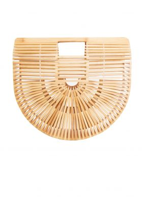 Ali Wooden Structured Clutch Bag