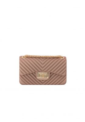 Amy Rose Gold Quilted Mini Bag