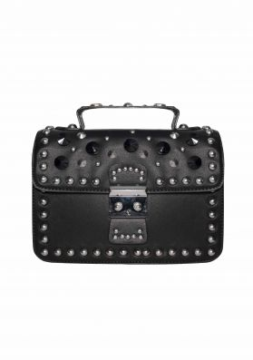 Alice Black Studded Cross Body Bag