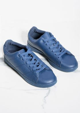 Matilda Navy Leather Trainers