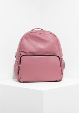 Skye Pink Faux Leather Backpack