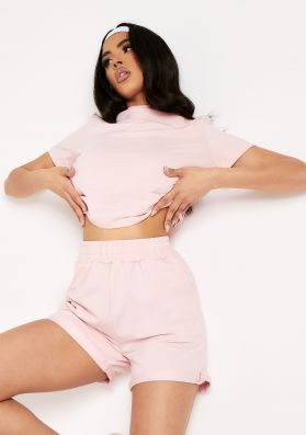 Kaylie Pink Top And Shorts Loungewear Co-Ord Set
