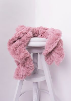 Alina Dusty Pink Twisted Fluffy Scarf