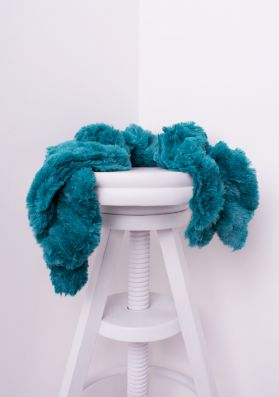 Alina Teal Twisted Fluffy Scarf