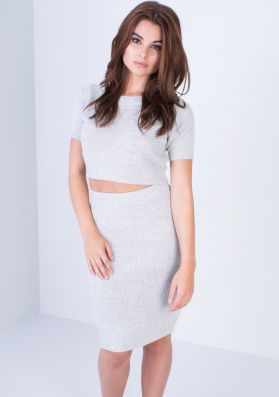 Julieta Grey Knitted Co-ord