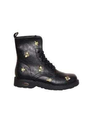 Kalia Black Gold Bee Detail Boots