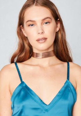 Dru Rose Gold Metallic Choker