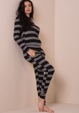 Lorna Grey And Black Striped Co-ord