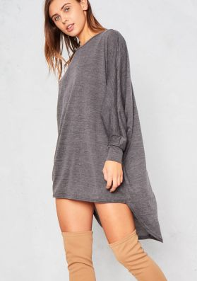 Ida Charcoal Oversized Batwing Dress