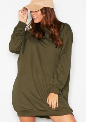Trixie Khaki Oversized Jumper Dress