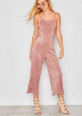 Nellie Rose Pleated Open Back Jumpsuit