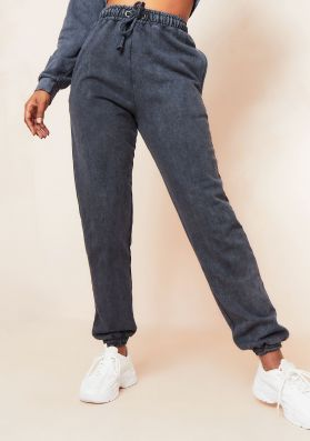 Kate Charcoal Washed Cuffed Joggers