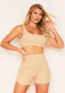 Remy Nude Ribbed Cycle Shorts