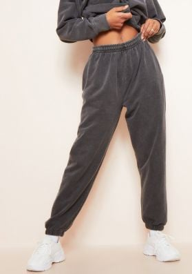 Blake Charcoal Washed Casual Joggers