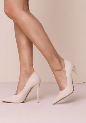 Chelsea Nude Pointed Toe Court Heels