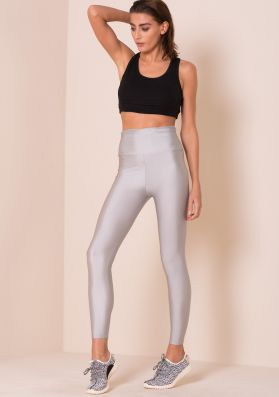 Giana Silver High Waisted Work Out Leggings