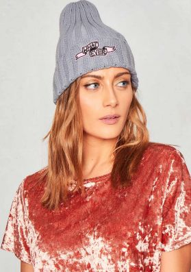 Kori Grey Whatever Badge Beanie Hat