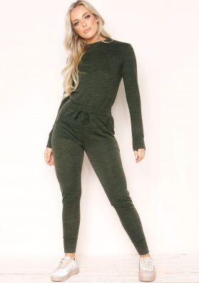 Casa Khaki Fine Knit Loungewear Set