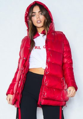 Chloe Red 2-In-1 Gilet Puffer Coat