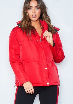 Ruby Red Puffer Jacket