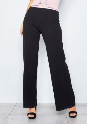 Floss Black Wide Leg Trousers