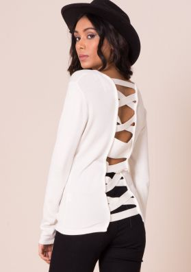 Hena Cream Criss Cross Jumper