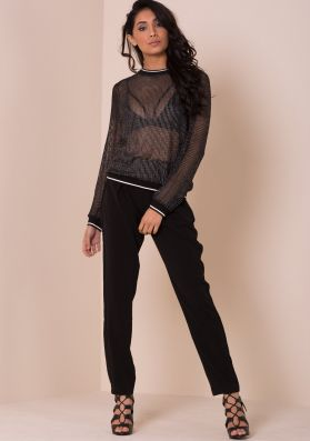 Clover Black Cigarette Trousers