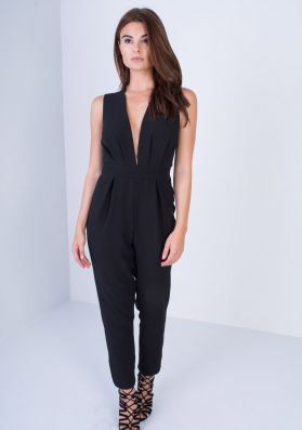 Vicki Black Tie Back Jumpsuit