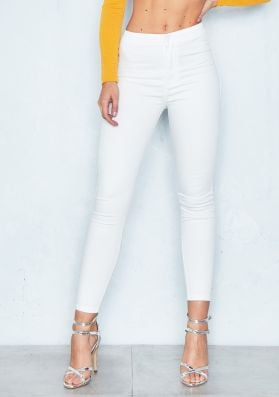 Morgan White High Waisted Skinny Jeans